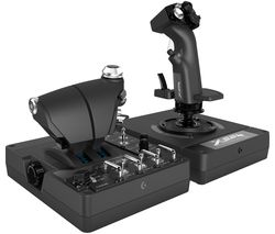 Saitek ProFlight X56 Rhino Flight Control Joystick & Throttle - Black