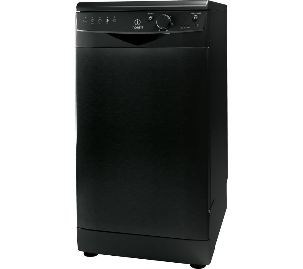 INDESIT DSR 15B1 K Slimline Dishwasher - Black
