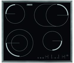 ZANUSSI ZEV6646XBA Electric Ceramic Hob - Black & Stainless Steel