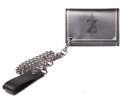 NINTENDO Zelda Breath of the Wild Trifold Chain Wallet - Grey