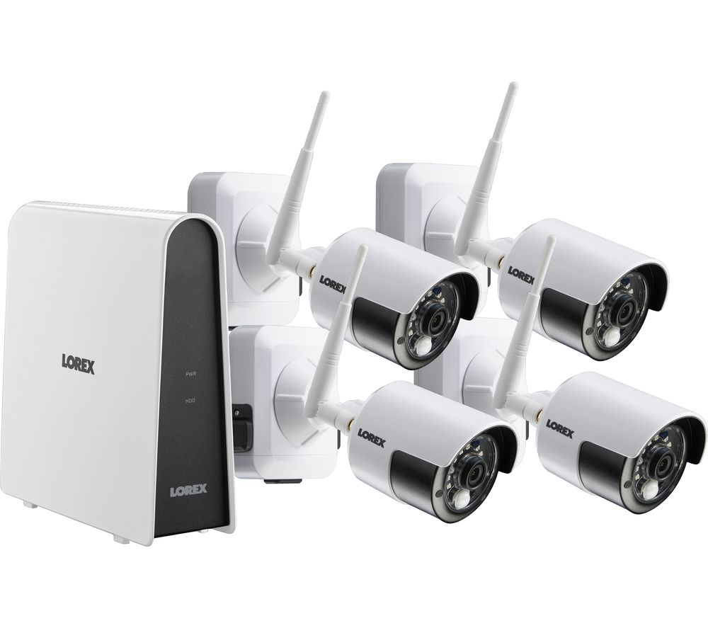 LOREX LHB8061TC4WP 6-Channel Full HD 1080p Security System - 1 TB, 4 Wireless Cameras