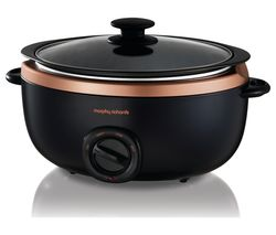 MORPHY RICHARDS Evoke Sear & Stew 461016 Slow Cooker - Black & Rose Gold Best Price, Cheapest Prices