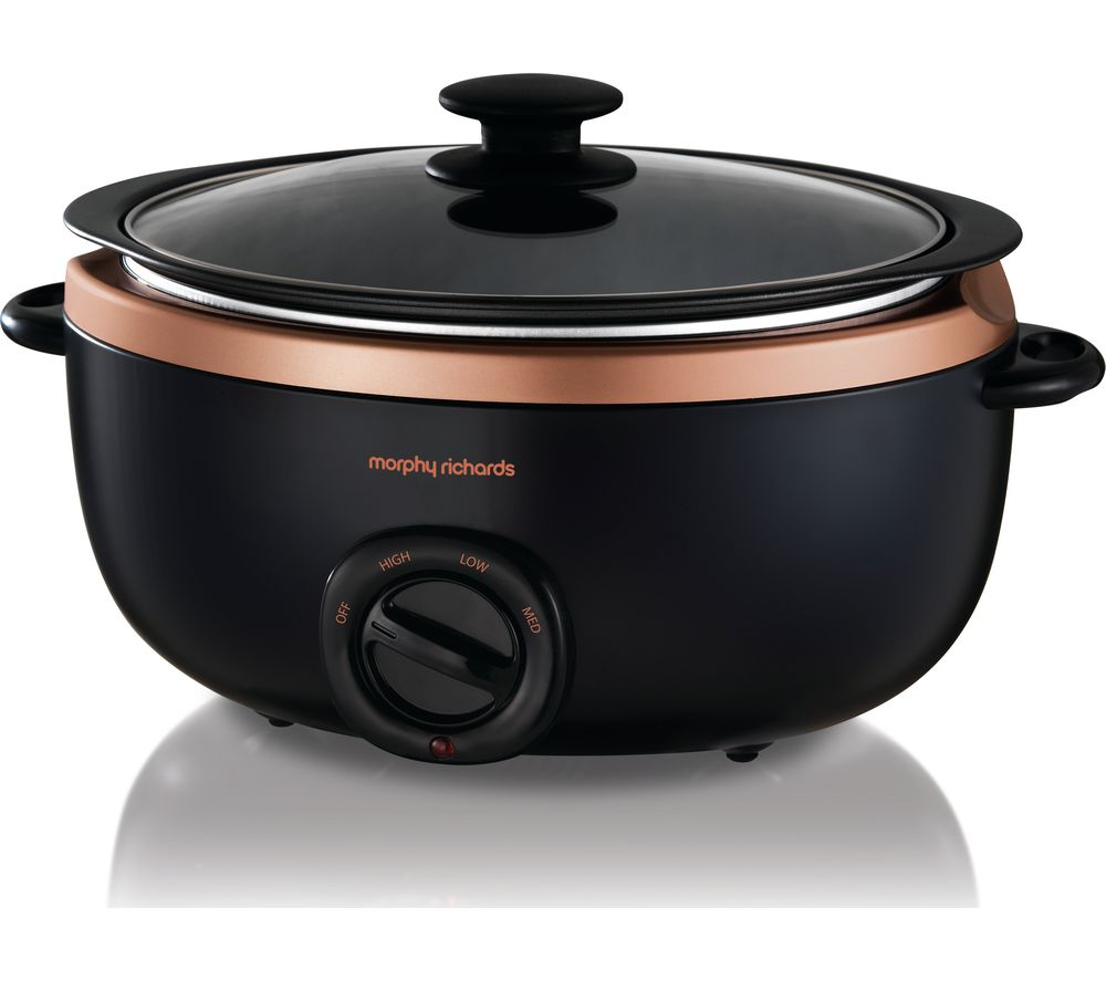 MORPHY RICHARDS Evoke Sear & Stew 461016 Slow Cooker - Black & Rose Gold