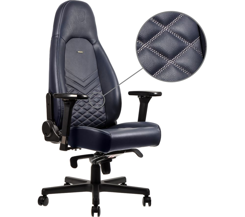 Image of NOBLECHAIRS ICON Leather Gaming Chair - Blue, Blue