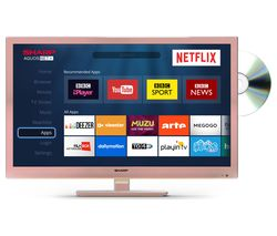 "SHARP LC-24DHG6001KR 24"" Smart LED TV with Built-in DVD Player - Rose Gold"