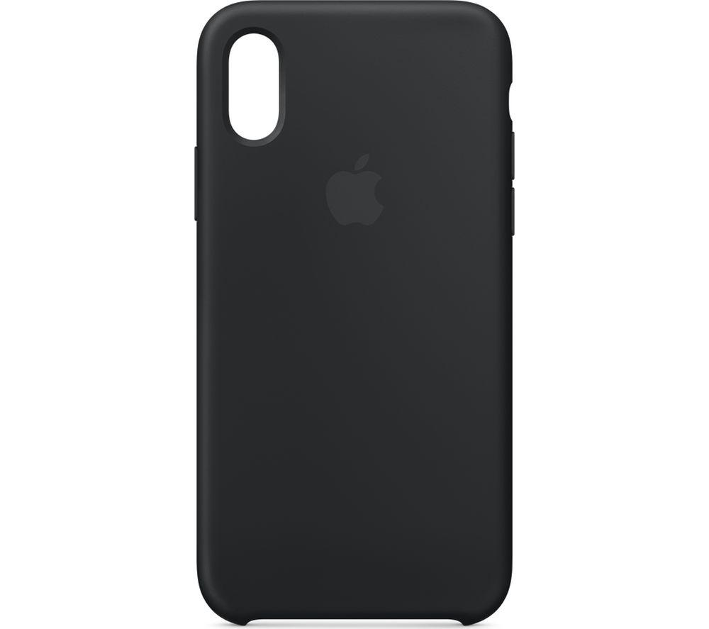 APPLE iPhone XS Silicone Case - Black, Black cheapest retail price