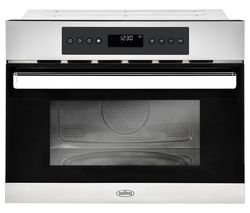 BELLING BI45COMW Built-in Compact Combination Microwave – Black & Stainless Steel
