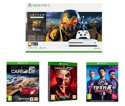 MICROSOFT Xbox One S, Anthem, FIFA 19, Tekken 7 & Project Cars 2 Bundle