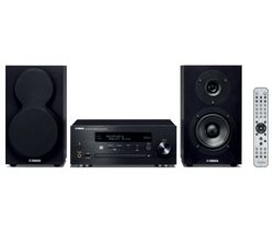 YAMAHA MusicCast MCR-N470D Wireless Multi-room Traditional Hi-Fi System - Black
