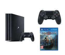 SONY PlayStation 4 Pro, God Of War & DualShock 4 V2 Wireless Controller Bundle - 1 TB