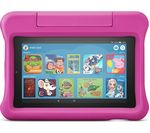 £99.99, AMAZON Fire 7 Kids Edition 7inch Tablet (2019) - 16 GB, Pink, Fire OS 5, Standard resolution screen, 16GB storage: Perfect for apps & photos, Battery life: Up to 7 hours, Add more storage with a microSD card,
