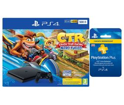 SONY PlayStation 4 with Crash Team Racing & PlayStation Plus 3 Month Subscription Bundle - 500 GB
