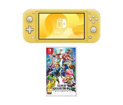 Switch Lite & Super Smash Bros. Ultimate Bundle - Yellow