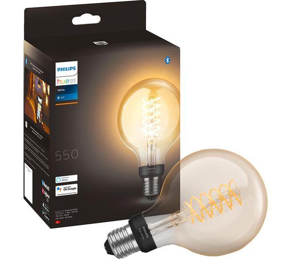 Image of PHILIPS HUE Filament Bluetooth LED Bulb - G93, E27