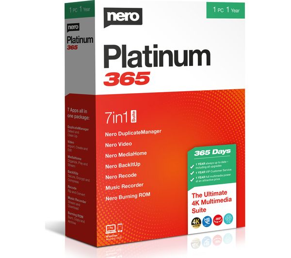 Image of NERO Platinum 365 2020 - 1 year for 1 user