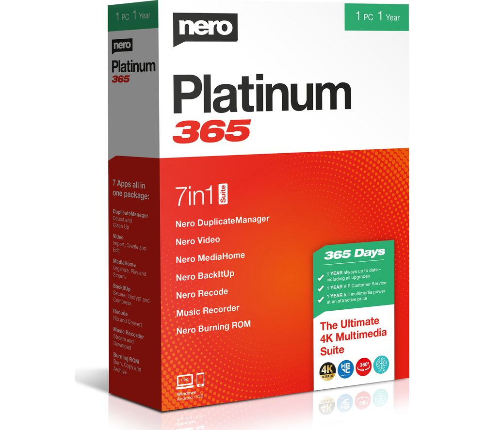 Image of NERO Platinum 365 2020 - 1 year for 1 user
