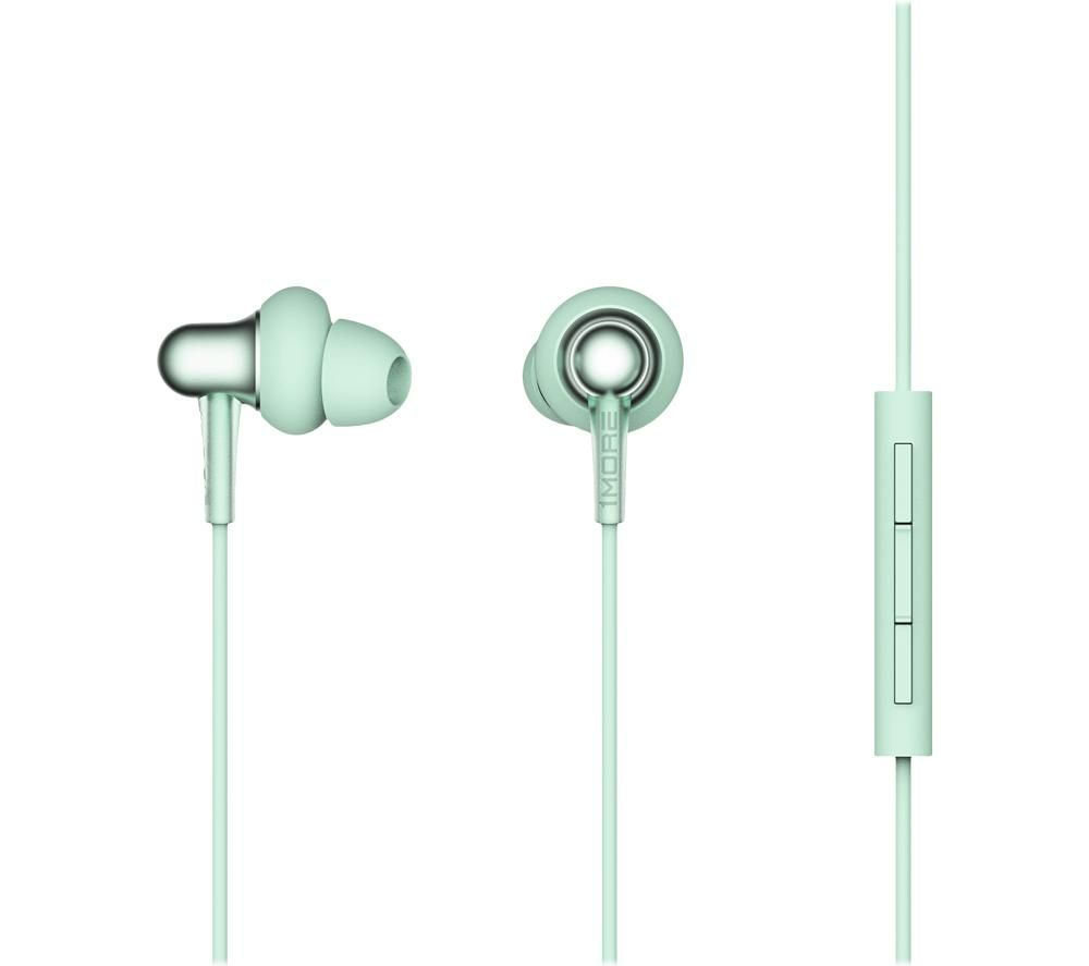 1MORE Stylish Dual-Dynamic E1025 Earphones - Spearmint Green