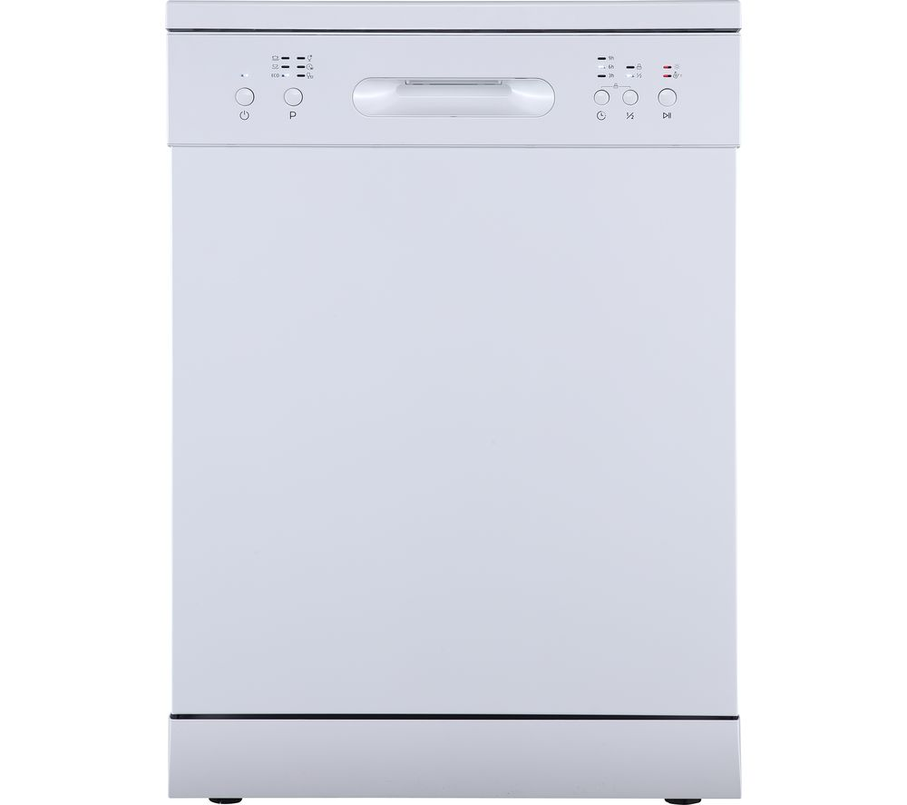 ESSENTIALS CUE CDW60W20 Full-size Dishwasher - White, White
