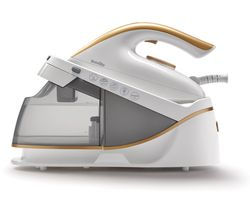 Image of BREVILLE PressXpress VIN410 Steam Generator Iron - White & Gold