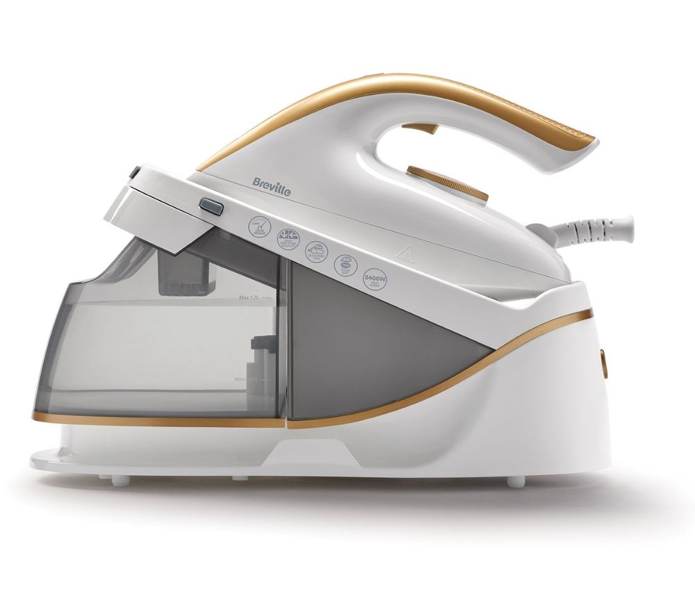 BREVILLE PressXpress VIN410 Steam Generator Iron - White & Gold