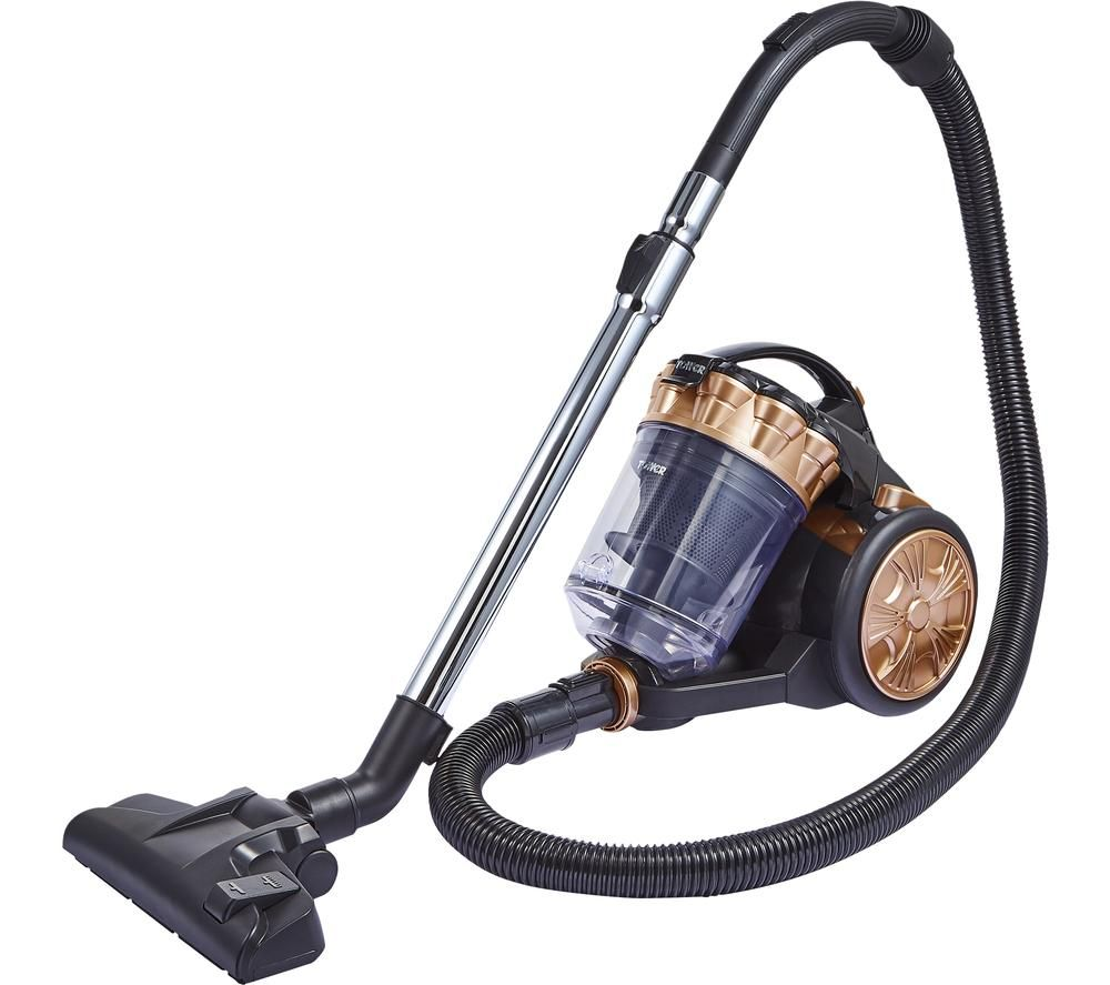 TOWER T102000BLG Cylinder Bagless Vacuum Cleaner - Black & Rose Gold, Black