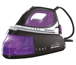 DAEWOO SDA1589 Steam Generator Iron - Black, Purple & Silver Best Price, Cheapest Prices