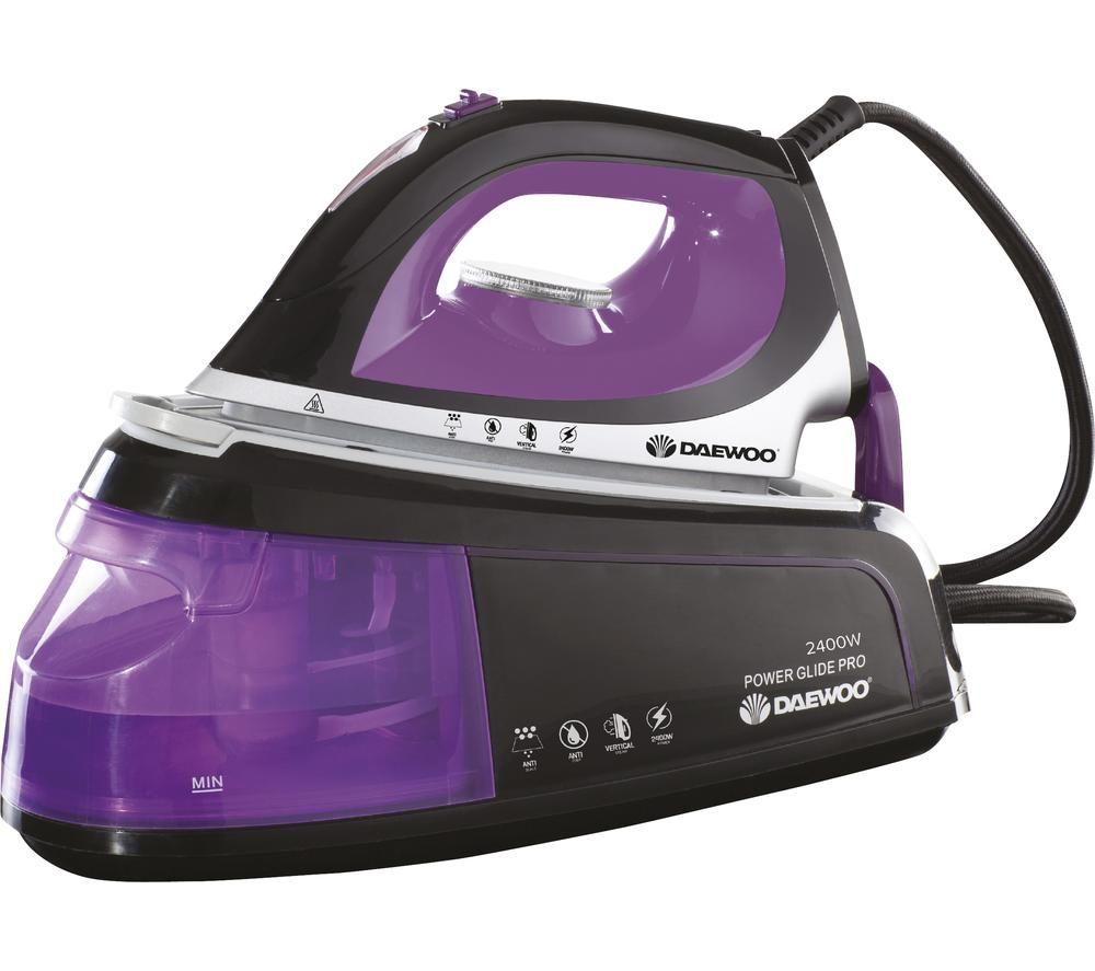 DAEWOO SDA1589 Steam Generator Iron - Black & Purple
