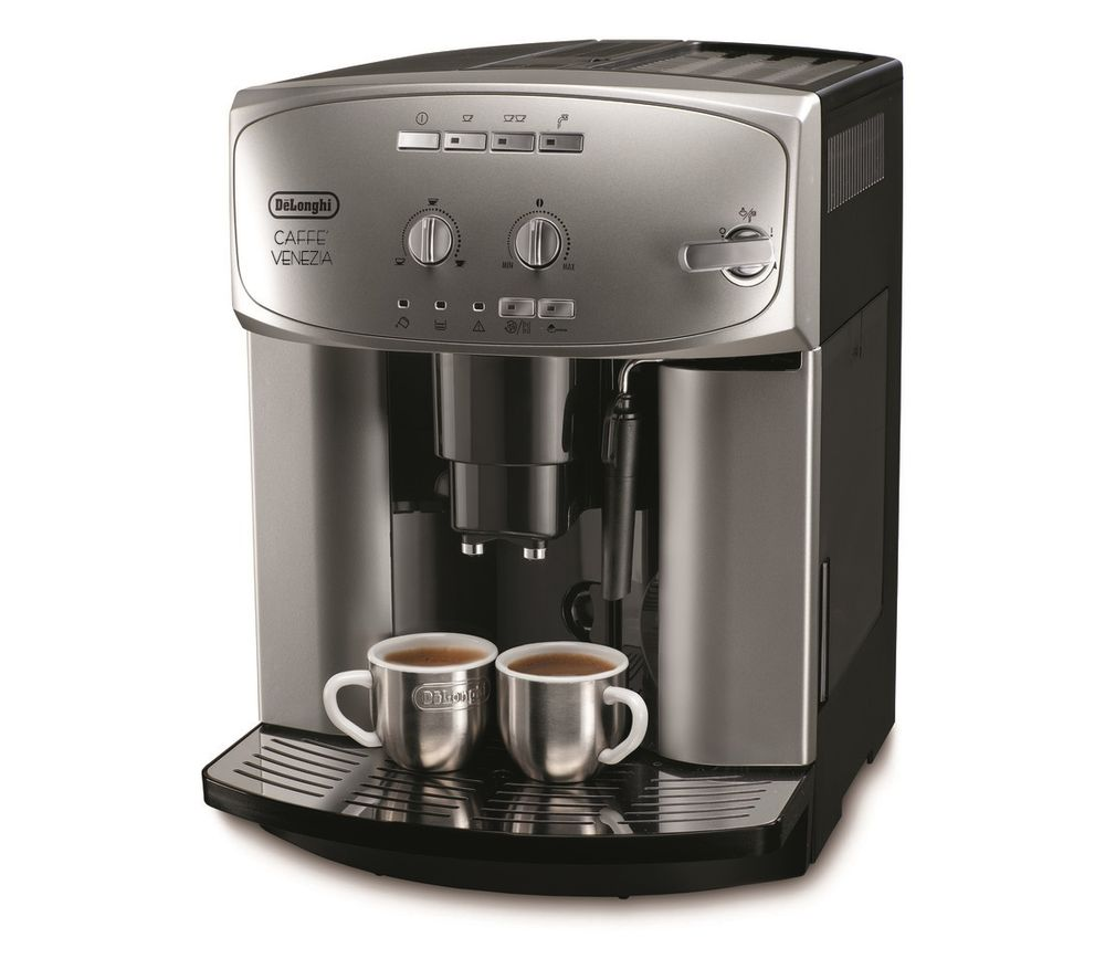 DELONGHI Caffe Venezia ESAM2200 Bean To Cup Coffee Machine - Silver & Black, Silver