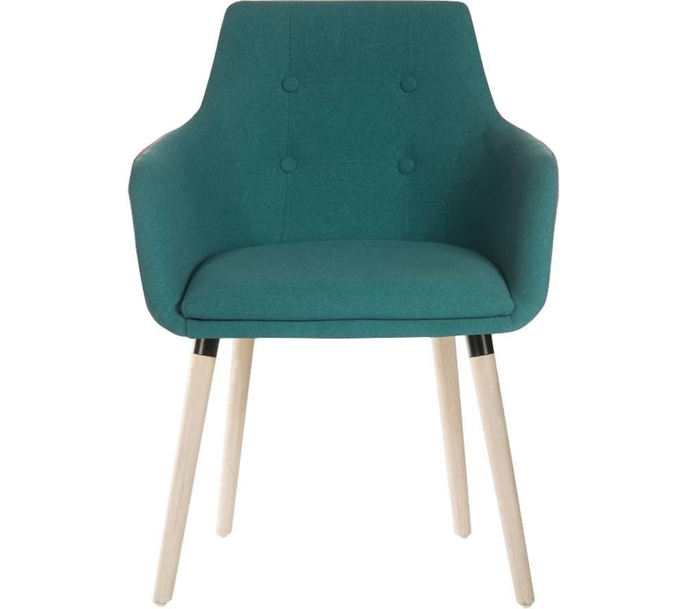 TEKNIK 4-Legged Fabric Reception Chair - Jade