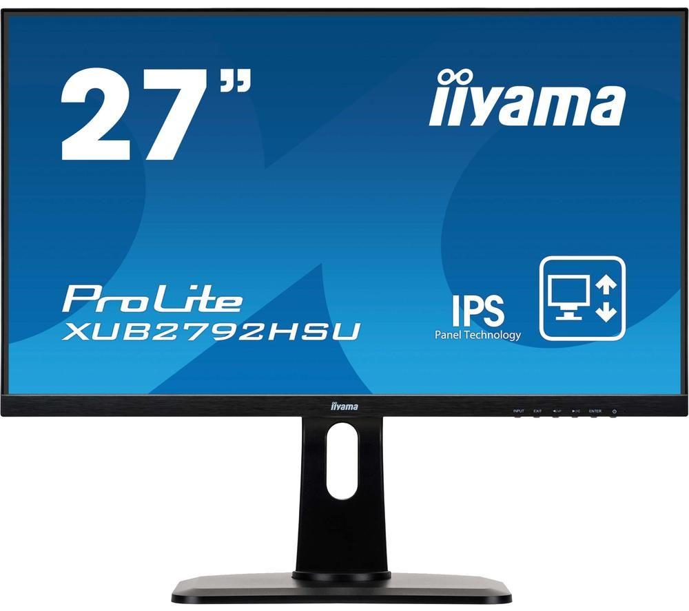 """Image of IIYAMA ProLite XUB2792HSU-B1 Full HD 27"""" IPS LCD Monitor - Black, Black"""