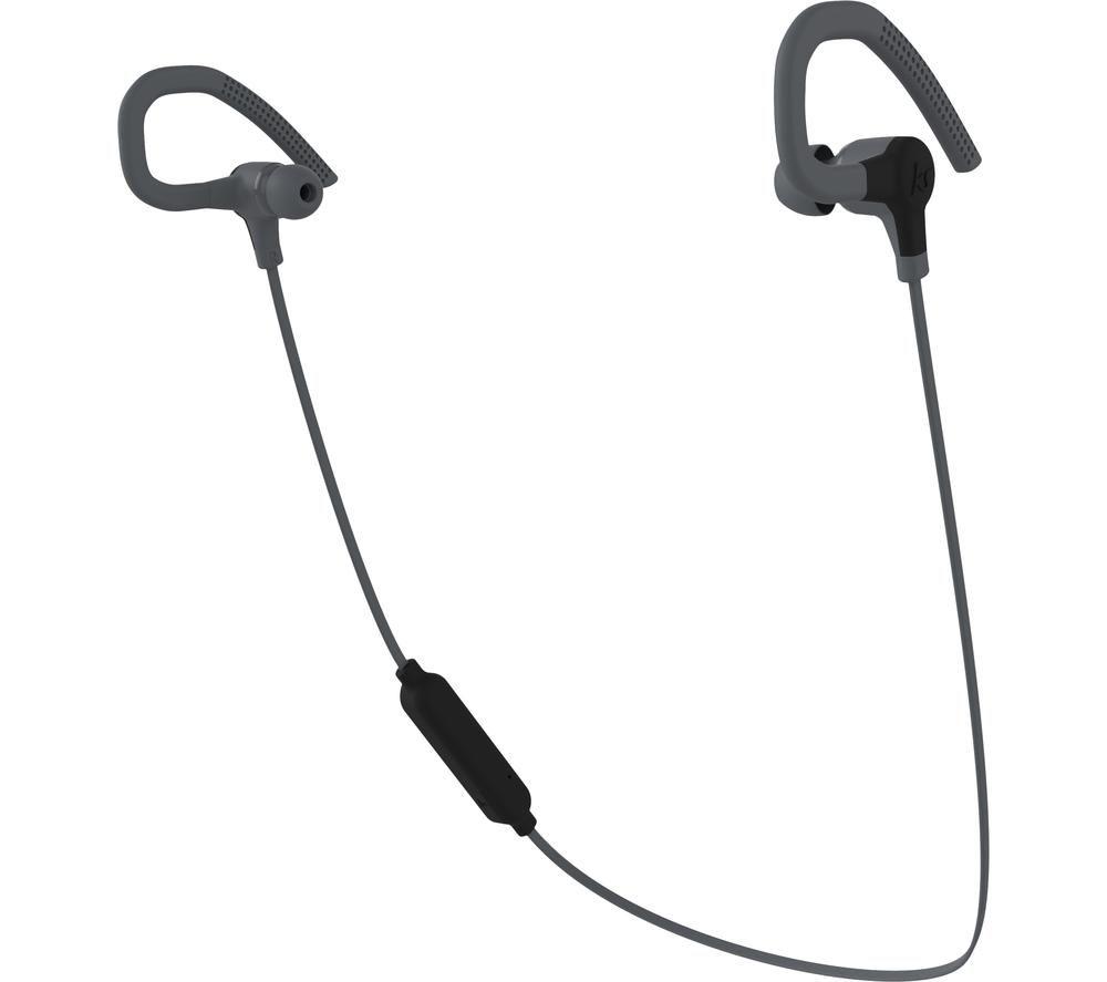Kitsound Race 15 KSRAC15BK Wireless Bluetooth Sports Earphones - Black, Black