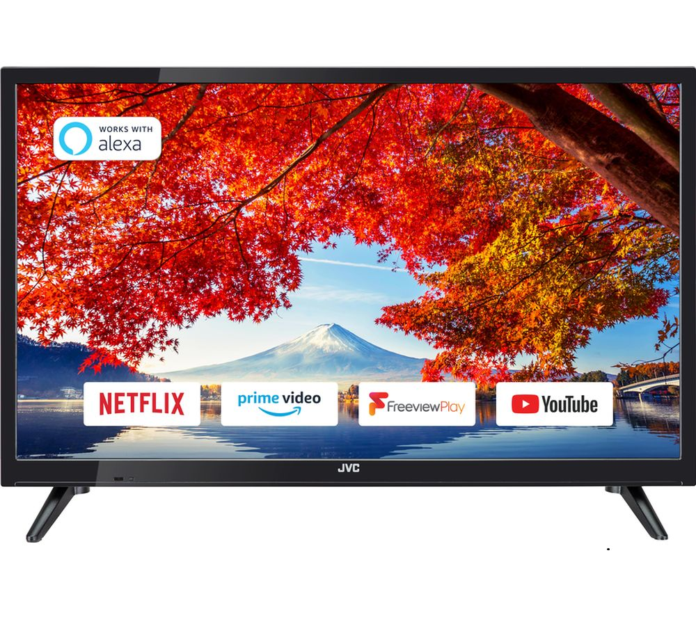 "JVC LT-24C605 24"" Smart HD Ready HDR LED TV with Built-in DVD Player"