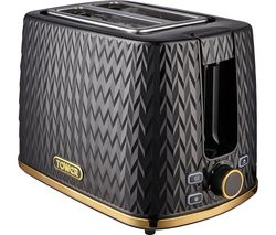 Empire Collection T20054BLK 2-Slice Toaster – Black