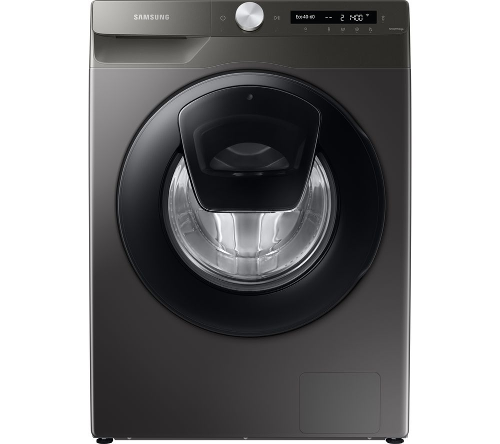 Image of SAMSUNG AddWash WW80T554DAN/S1 WiFi-enabled 8 kg 1400 Spin Washing Machine - Graphite, Graphite