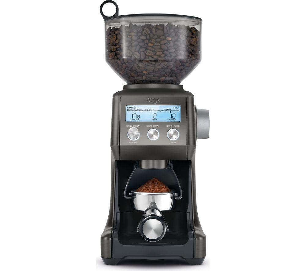 SAGE The Smart Grinder Pro SCG820BST Electric Coffee Grinder - Black Stainless Steel