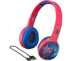 Spider-Man SM-B36VM Wireless Bluetooth Kids Headphones - Red & Blue