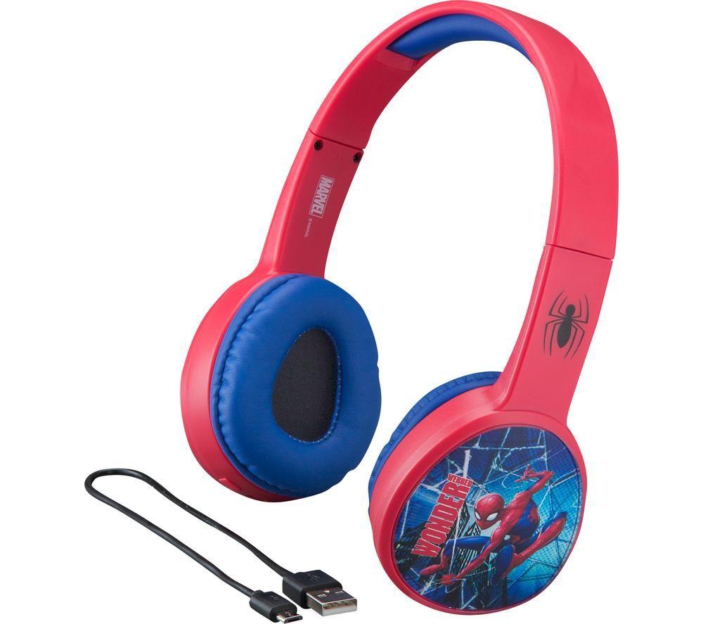 EKIDS Spider-Man SM-B36VM Wireless Bluetooth Kids Headphones - Red & Blue