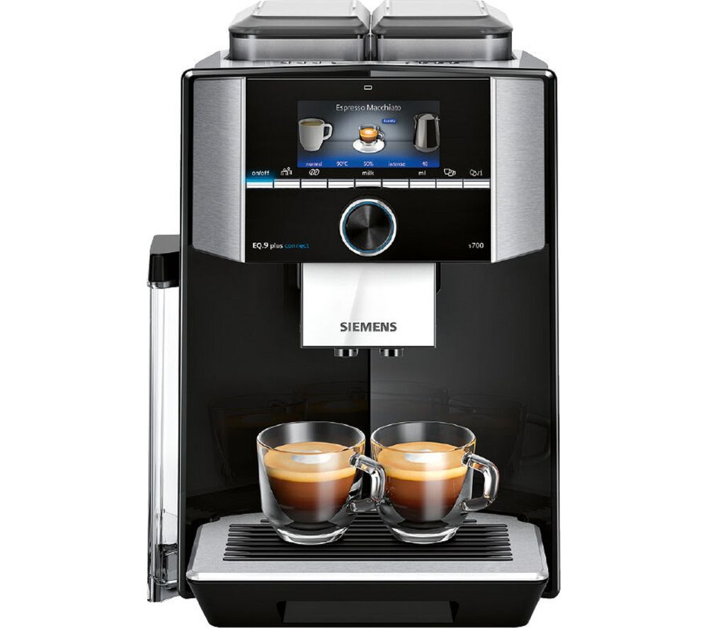 SIEMENS EQ.9 s700 TI9573X9RW Smart Bean to Cup Coffee Machine – Black & Stainless Steel, Stainless Steel