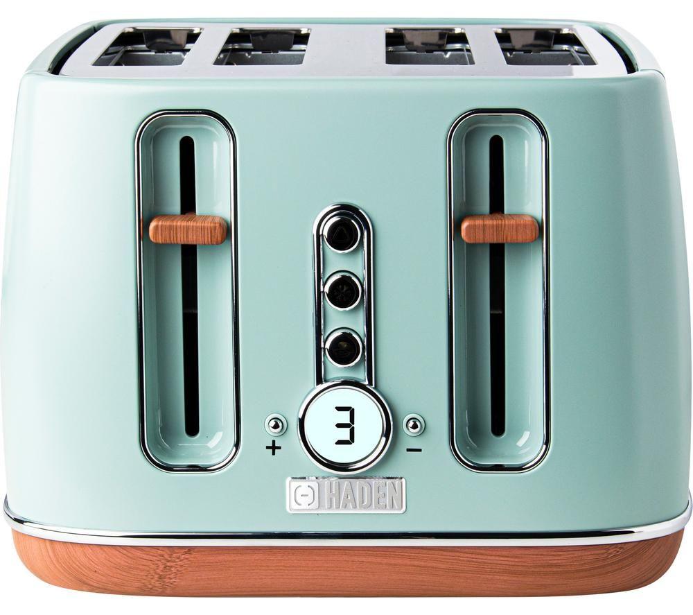 HADEN Dorchester 201287 4-Slice Toaster - Sage Green, Green
