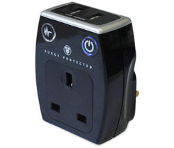 MASTERPLUG Surge Protected Plug Adapter with USB