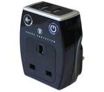 MASTERPLUG Surge Protected USB/Plug Adaptor