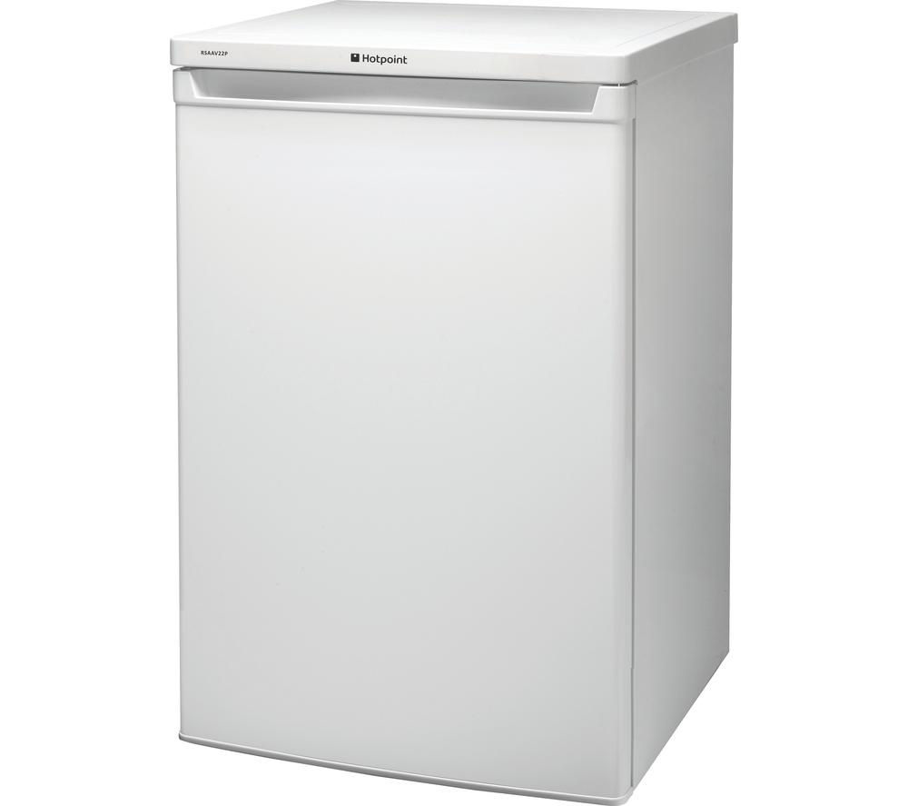 HOTPOINT RSAAV22P.1 Undercounter Fridge - White (text duplicated)