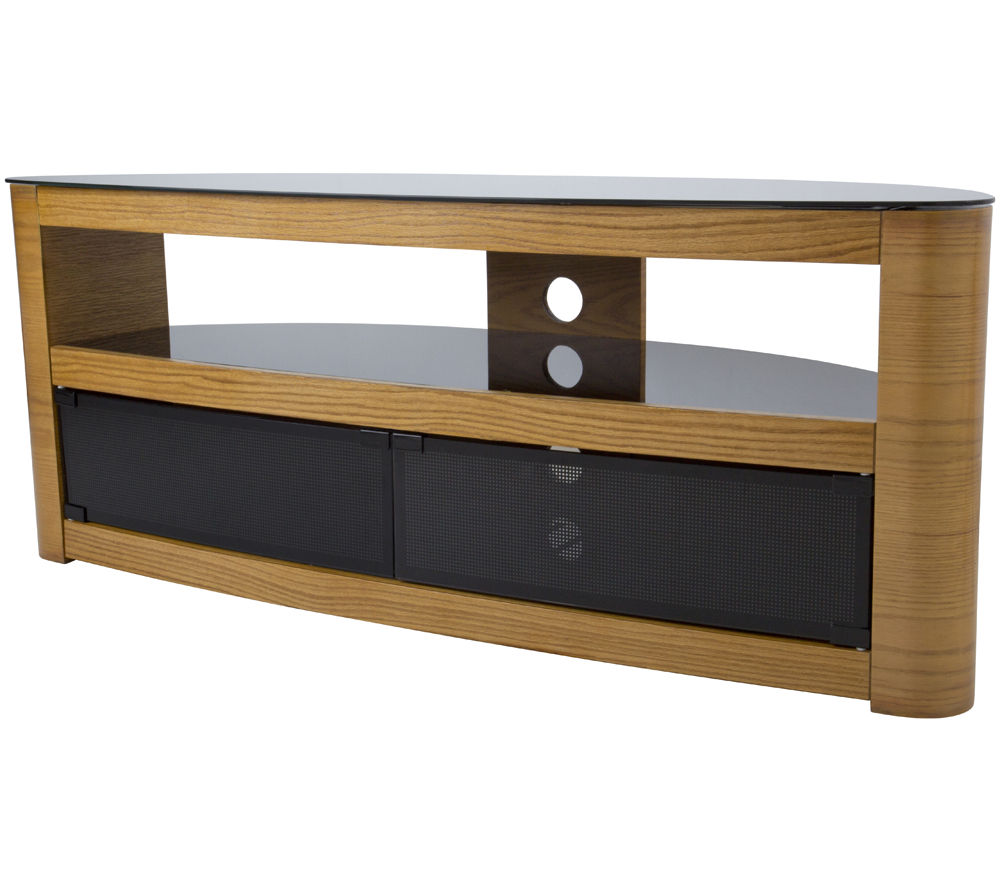 Avf burghley 1250 mm tv stand oak deals pc world for Meuble console tv