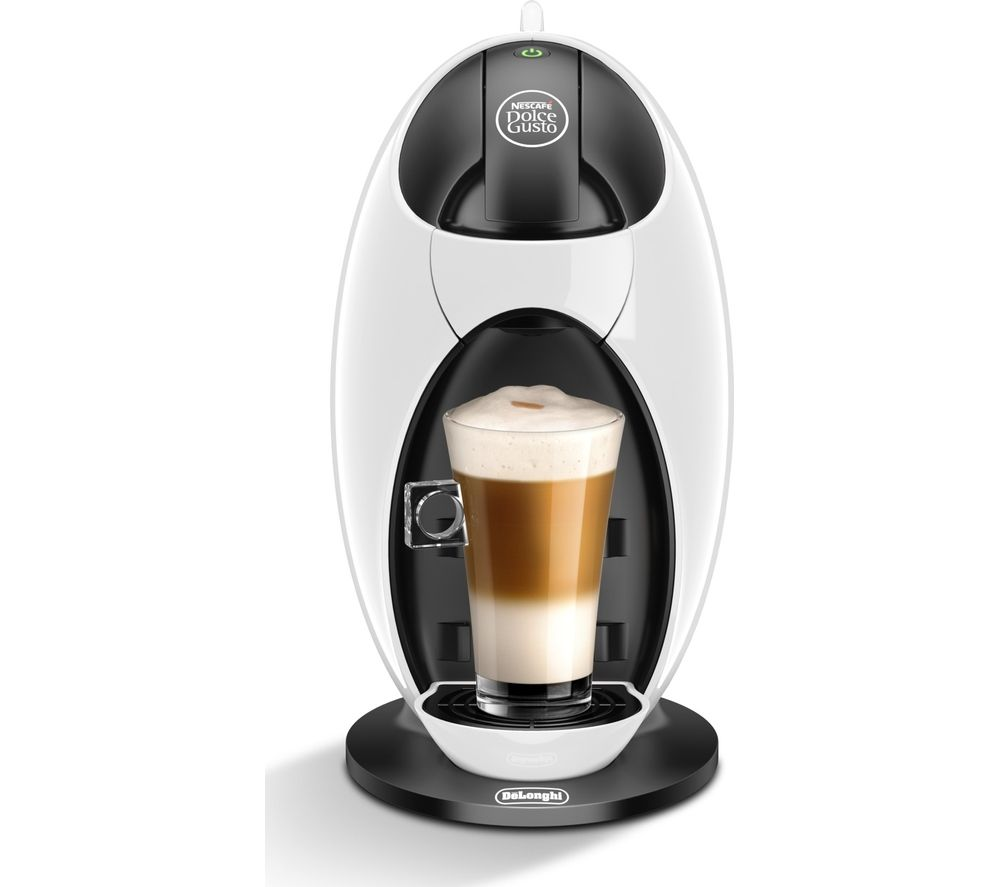 by De'Longhi Jovia EDG250W Hot Drinks Machine - White + XB201000 Dolce Gusto Pod Holder - Chrome
