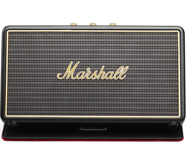 Image of MARSHALL Stockwell Portable Bluetooth Wireless Speaker with Flip Cover - Black