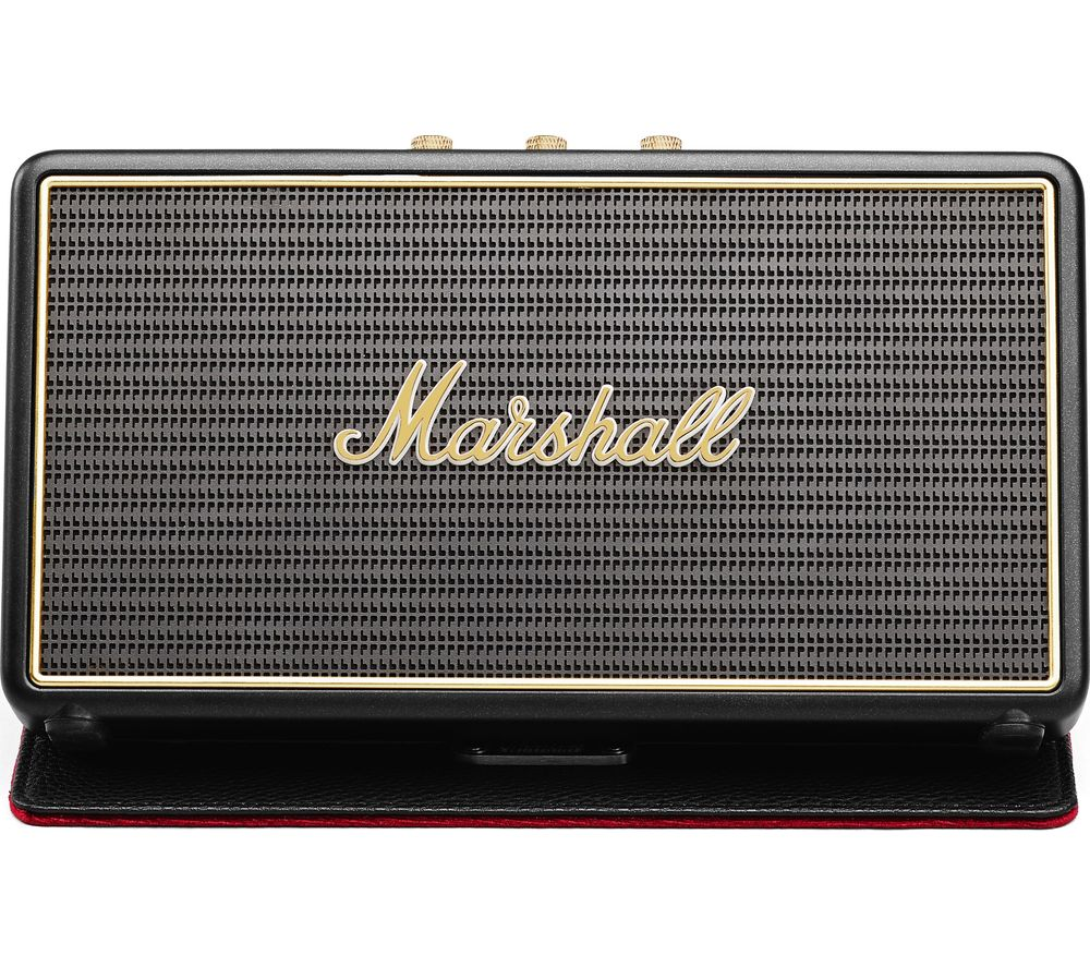 MARSHALL Stockwell Portable Bluetooth Wireless Speaker with Flip Cover - Black