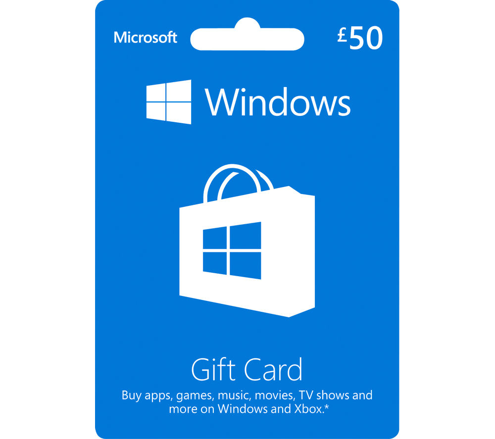 Buy MICROSOFT Windows Gift Card - £50