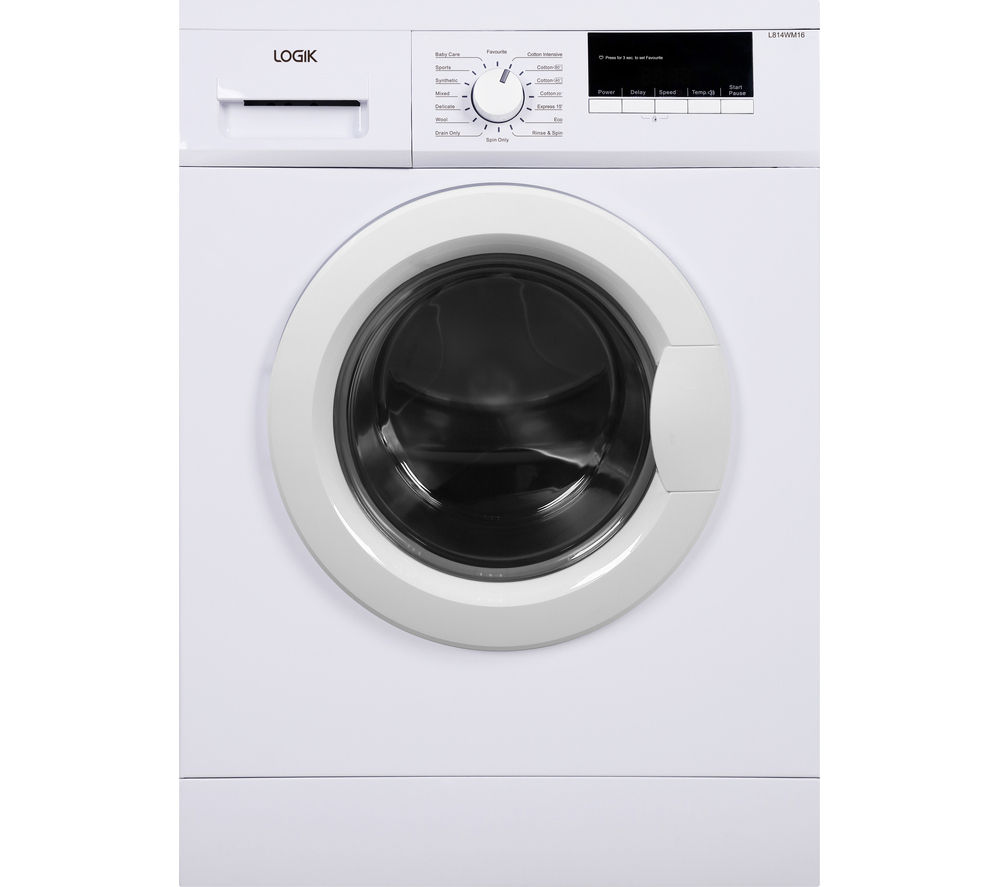 buy logik l814wm16 washing machine white free delivery currys. Black Bedroom Furniture Sets. Home Design Ideas