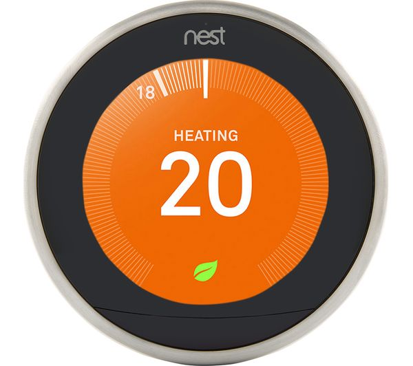 buy nest learning thermostat 3rd generation silver free