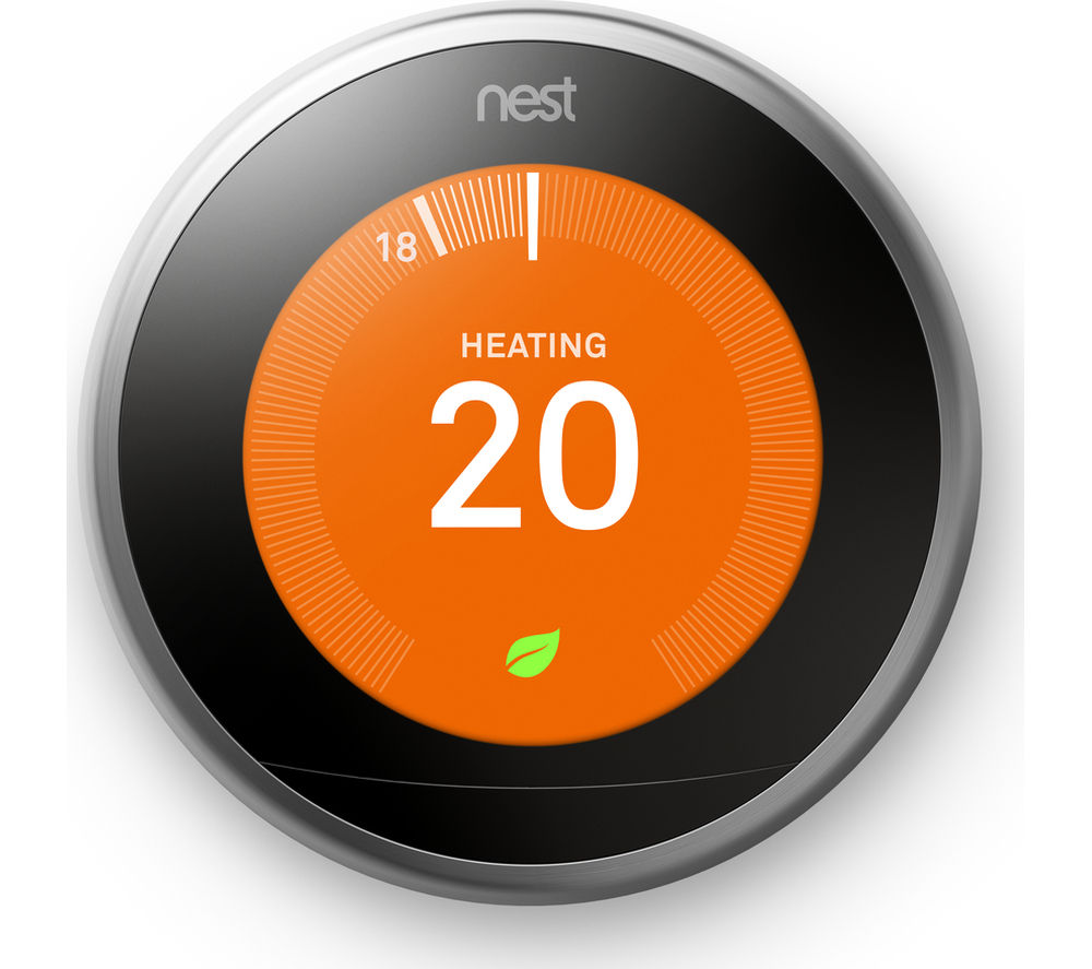 GOOGLE Nest Learning Thermostat - 3rd Generation, Silver